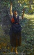 Cueilleuse de Figues painting reproduction, Jules Breton