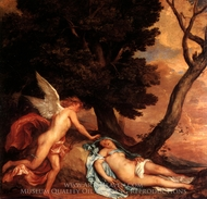 Cupid and Psyche painting reproduction, Sir Anthony Van Dyck