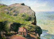Customhouse, Varengeville painting reproduction, Claude Monet