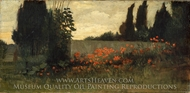 Cypress and Poppies painting reproduction, Elihu Vedder