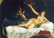 Danae painting reproduction, Artemisia Gentileschi