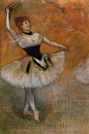 Dancer with Tambourine painting reproduction, Edgar Degas