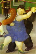 Dancers painting reproduction, Fernando Botero