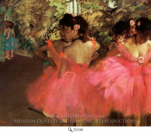 Edgar Degas, Dancers in Pink oil painting reproduction