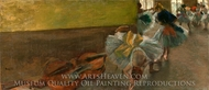 Dancers in the Rehearsal Room with a Double Bass painting reproduction, Edgar Degas