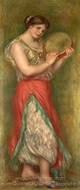 Dancing Girl with Tambourine painting reproduction, Pierre-Auguste Renoir