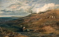 Dartmoor: The Source of the Tamar and the Torridge painting reproduction, J.M.W. Turner