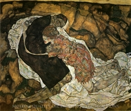 Death and the Maiden painting reproduction, Egon Schiele