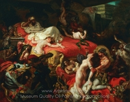 Death of Sardanapalus painting reproduction, Eugene Delacroix