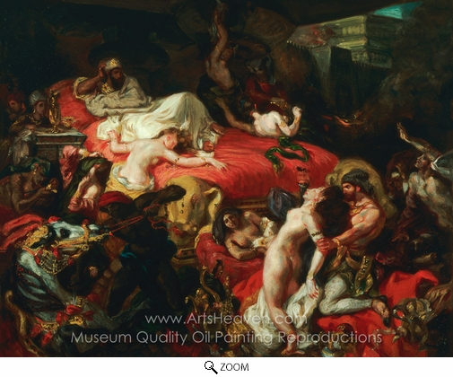Eugene Delacroix, Death of Sardanapalus oil painting reproduction