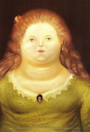 Delphine painting reproduction, Fernando Botero
