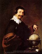 Democritus painting reproduction, Diego Velazquez