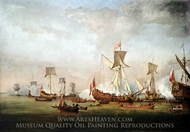 Departure of William of Orange and Princess Mary for Holland, 19 November 1677 painting reproduction, Willem Van De Velde