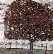 Der Apfelbaum painting reproduction, Gustav Klimt