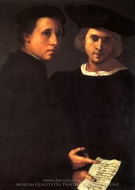 Deux Amis painting reproduction, Jacopo Pontormo
