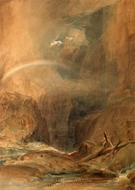 Devil's Bridge, Saint Gotthard's Pass painting reproduction, J.M.W. Turner