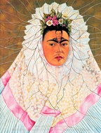 Diego in My Thoughts painting reproduction, Frida Kahlo