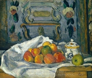 Dish of Apples painting reproduction, Paul Cézanne