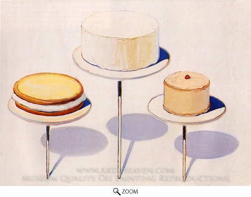 Wayne Thiebaud, Display Cakes oil painting reproduction