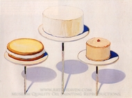 Display Cakes painting reproduction, Wayne Thiebaud