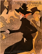 Divan Japonais painting reproduction, Henri De Toulouse-Lautrec