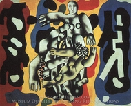 Divers on a Yellow Background painting reproduction, Fernand Leger