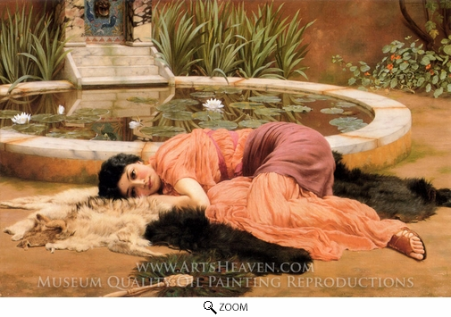 John William Godward, Dolce Far Niente oil painting reproduction