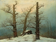 Dolmen in the Snow painting reproduction, Caspar David Friedrich