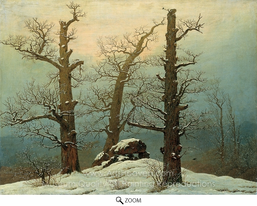 Caspar David Friedrich, Dolmen in the Snow oil painting reproduction