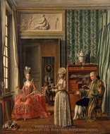 Domestic Scene painting reproduction, German Painter