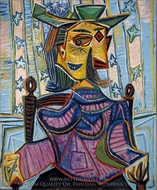 Dora Maar in an Armchair painting reproduction, Pablo Picasso (inspired by)