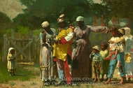 Dressing for the Carnival painting reproduction, Winslow Homer