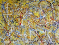 Drip Paint Abstract 3 (Pollock inspired) painting reproduction, Various Artist