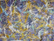 Drip Paint Abstract 4 (Pollock inspired) painting reproduction, Various Artist