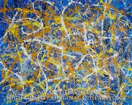 Drip Paint Abstract 6 (Pollock inspired) painting reproduction, Various Artist