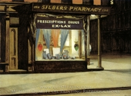 Drug Store painting reproduction, Edward Hopper