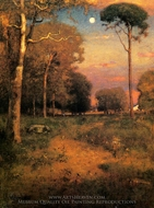 Early Moonrise, Florida painting reproduction, George Inness