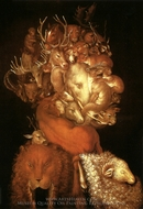 Earth painting reproduction, Giuseppe Arcimboldo