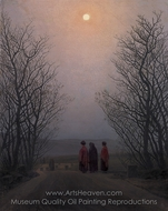 Easter Morning painting reproduction, Caspar David Friedrich