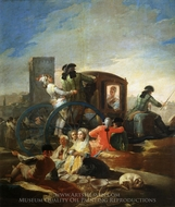 El Cacharrero painting reproduction, Francisco De Goya