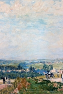 El Camino de Montbuisson a Louveciennes painting reproduction, Alfred Sisley