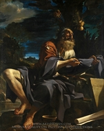Elijah Fed by Ravens painting reproduction, Guercino