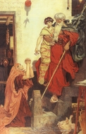 Elijah Restoring the Widow's Son painting reproduction, Ford Madox Brown