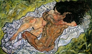 Embrace painting reproduction, Egon Schiele