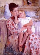 Emmie and Her Child painting reproduction, Mary Cassatt