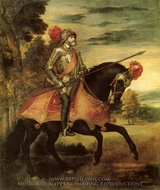 Emperor Charles V at Muhlberg painting reproduction, Titian