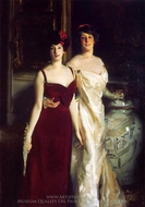 Ena and Betty, Daughters of Asher and Mrs. Wertheimer painting reproduction, John Singer Sargent