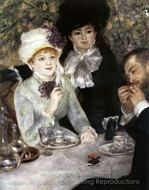 End of the Luncheon painting reproduction, Pierre-Auguste Renoir