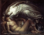 Endymion painting reproduction, George Frederic Watts