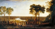 England, Richmond Hill, on the Prince Regent's Birthday painting reproduction, Joseph M. W. Turner